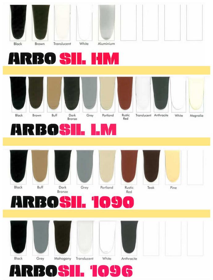 Arbo Mastic Colour Chart